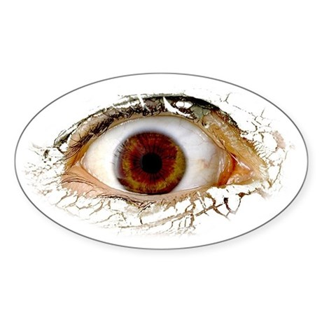 Big Ass Cyclops Eye Oval Sticker
