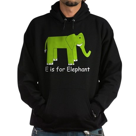 E is for Elephant Hoodie (dark)