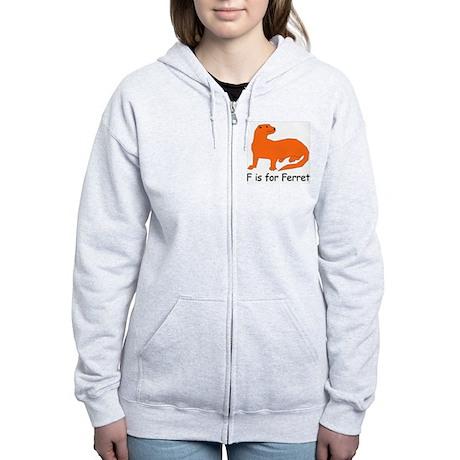 F is for Ferret Women's Zip Hoodie