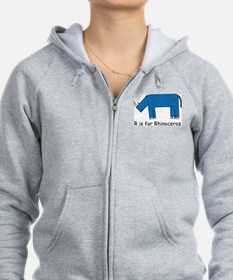 R is for Rhino Zip Hoodie