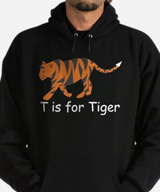T is for Tiger Hoodie (dark)