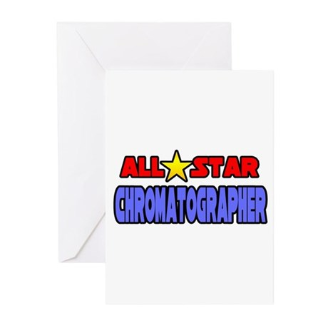 """""""All Star Chromatographer"""" Greeting Cards (Pk of 1"""
