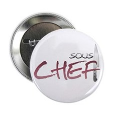 "Red Sous Chef 2.25"" Button (10 pack)"