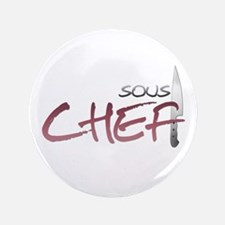 """Red Sous Chef 3.5"""" Button"""