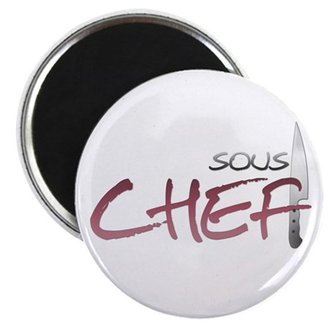 """Red Sous Chef 2.25"""" Magnet (100 pack)"""