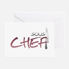 Red Sous Chef Greeting Card