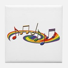 Rainbow Music Tile Coaster