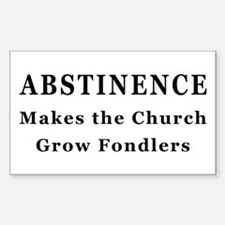 Abstinence Rectangle Decal