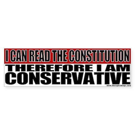 Conservative Constitution Bumper Sticker