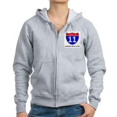 Class of 11 Road Sign Zip Hoodie