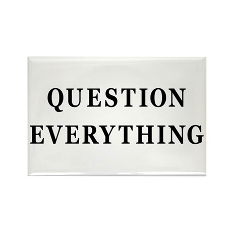 Question Everything Rectangle Magnet (100 pack)