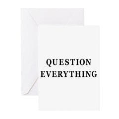 Question Everything Greeting Cards (Pk of 10)