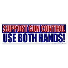 Support Gun Control Bumper Bumper Sticker