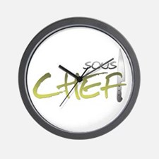 Yellow Sous Chef Wall Clock