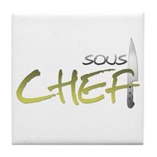 Yellow Sous Chef Tile Coaster
