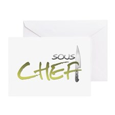Yellow Sous Chef Greeting Card