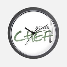 Green Sous Chef Wall Clock