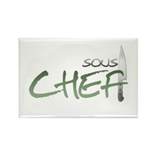 Green Sous Chef Rectangle Magnet (100 pack)