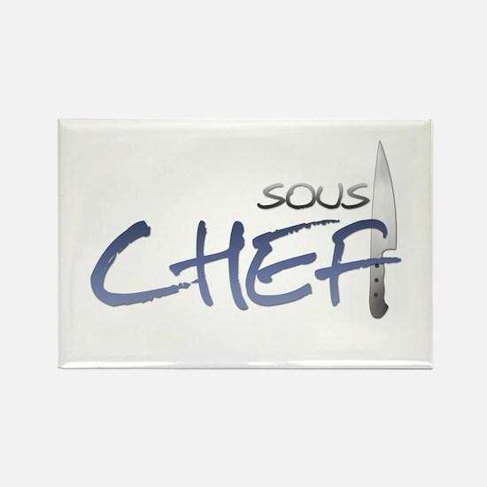 Blue Sous Chef Rectangle Magnet