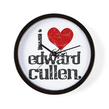 I Love Edward Cullen Wall Clock
