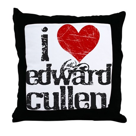I Love Edward Cullen Throw Pillow