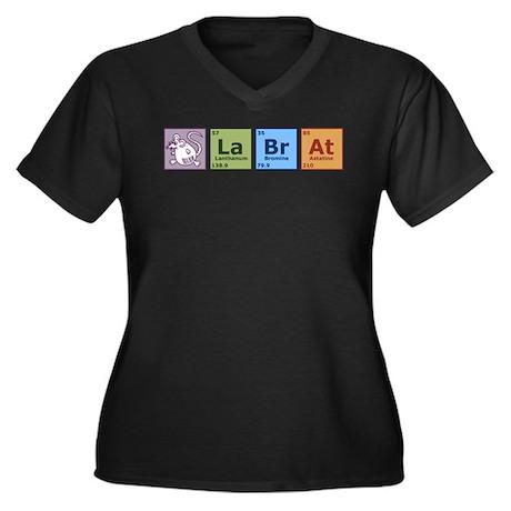 Periodic Lab Rat Women's Plus Size V-Neck Dark T-S