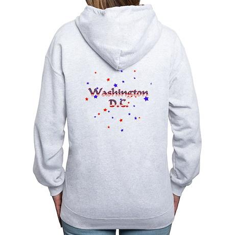 Washington DC Stars & Stripes Women's Zip Hoodie