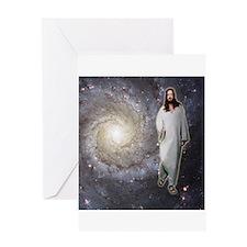 Jesus Universe Greeting Card