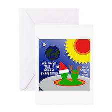 ALIEN CHRISTMAS WISH Blank Greeting Card
