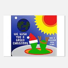 ALIEN CHRISTMAS WISH Postcards (Package of 8)