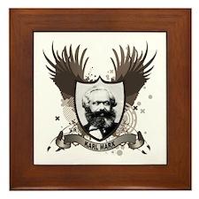 Karl Marx Framed Tile