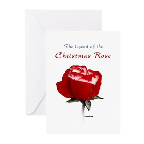 Christmas Rose Greeting Cards (Pk of 10)