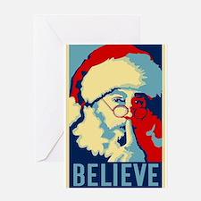 Graphic Santa Greeting Card