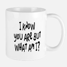 but what am I? /blk Mug