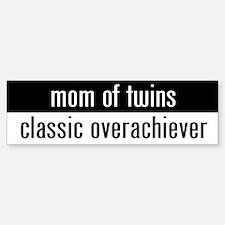 """""""mom of twins"""" Bumper Bumper Bumper Sticker"""
