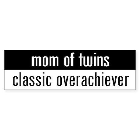 """mom of twins"" Bumper Sticker"