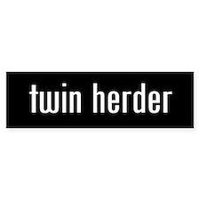 """""""twin herder"""" Bumper Bumper Sticker"""