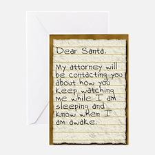 Santa Stalker Greeting Card