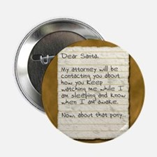"Santa Stalker 2.25"" Button"