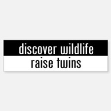 """raise twins"" Bumper Bumper Bumper Sticker"