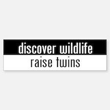 """raise twins"" Bumper Car Car Sticker"