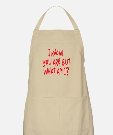 but what am I? /red BBQ Apron