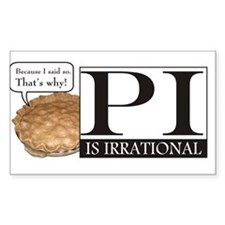 Irrational Pi Decal