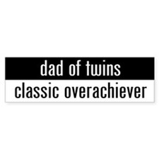 """dad of twins"" Bumper Bumper Stickers"