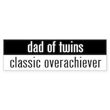 """""""dad of twins"""" Bumper Car Sticker"""