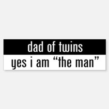 """dad of twins"" Bumper Bumper Bumper Sticker"