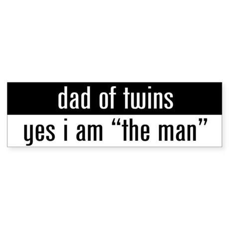 """dad of twins"" Bumper Sticker"