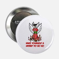 """Pirate Christmas Angel 2.25"""" Button"""