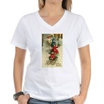 Christmas Sledding Women's V-Neck T-Shirt