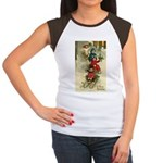 Christmas Sledding Women's Cap Sleeve T-Shirt